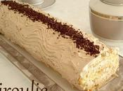 Gâteau roulé crème mousseline café