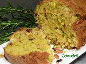 CAKE COURGETTES, CHEVRE & PIGNONS
