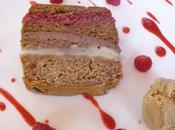 terrine pain d'épice, chocolat, framboise crème vanille glace spéculoos