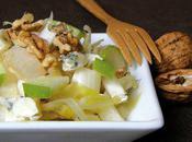 Salade d'endives, pommes, roquefort noix