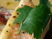 Velouté lentilles corail lait coco, filets rougets coriandre