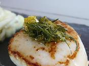 Coquilles Jacques snackées gremolata d'aneth zestes d'orange