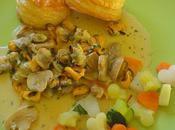 Feuilleté coques moules bouchot l'oseille noilly prat, coeur légumes