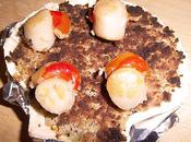 Coquilles Saint-Jacques, fondue poireaux crumble noisettes