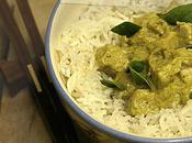 Poulet curry vert feuilles citron kaffir (recette Thaï)