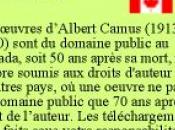Camus ebook 'Gallimard respecte droit d'auteur Canada'