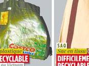 Sacs plastiques réutilisables possède plus petite empreinte écologique