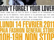 Don't forget your lover février chez Paia