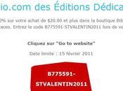 Épargnez votre achat $20.00 plus dans boutique Biblio.com Éditions Dédicaces