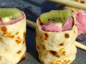 Makis lait, coulis framboise kiwi