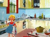 cuisine, fanny devant cuisinière gaz, regarde sablier pour savoir quand oeufs coque seront cuits