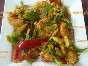 filet limande crevettes poivrons curcuma