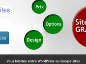 Site gratuit Comparaison Google Sites WordPress