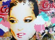 Kate moss portrait stencil
