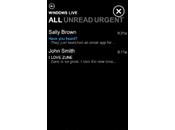 application mail pour Zune