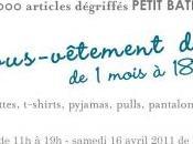 Invitation vente privée Petit bateau chez Adèle Sand