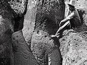 """photo l'arrière moai expédition """"Mana"""" Routledge (1913-1916)"""