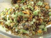 Salade lentille, céleri-branche herbes