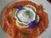 Saumon gravlax, emulsion citronnee 'aneth!
