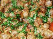 Boulettes viande hachée sauce l'ail