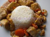Poulet noix cajou, carottes sirop d'érable