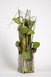 """Cahier styles interflora """"harmonies hybrides"""" couleur vert"""