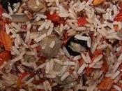 Salade trio riz, tomates séchées champignons