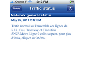 L'application iPhone RATP Premium gratuite moment l'AppStore