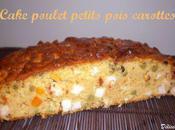 Cake poulet petits pois carottes