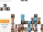 LinkedIn contacts dans Tetris