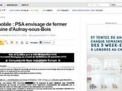 Fermeture l'usine d'Aulnay PSA, comme parle