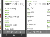 Evernote arrive Windows Phone