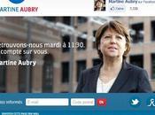 Lancement site campagne Martine Aubry