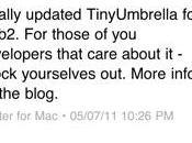 TinyUmbrella peut désormais supporter l'ios