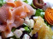 Salade saumon fumé
