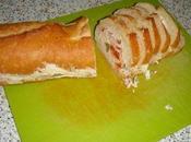 Baguette surprise jambon, chorizo cornichons