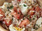 Salade thon, tomate œufs
