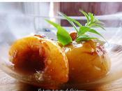 Pêches rôties miel verveine citron