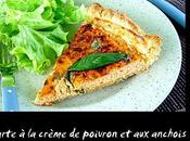 Tarte crème poivron anchois
