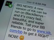 Messenger arrive BlackBerry