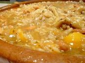 Tajine poulet pêches noix cajou facon risotto