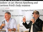 Indiana Jones Spielberg Ford fêtent anniversaire