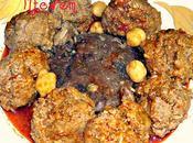 Mtewem marqua hamra boulettes viande hachée l'ail sauce rouge