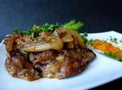 Jarret veau fenouil, mangues séchées amandes