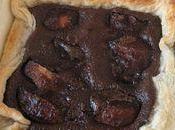 Tarte feuilletée poire-chocolat