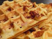 Gaufres mozzarella, bacon tomates séchées