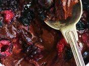 Fondant chocolat, sarrasin fruits rouges