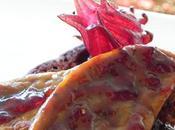 Foie gras poêlé pain d'épices gelée d'hibiscus