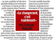 François Hollande changement c'est maintenant»