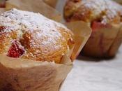 Muffins Fraises, Coeur Crème Pâtissière